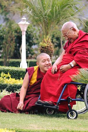 Tatklung Tsetrul with Yangsi Rinpoche